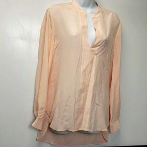 Banana Republic 100% silk pink blush blouse sz S